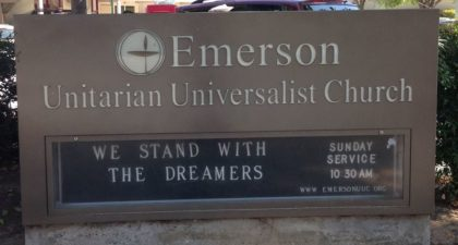 Emerson UU - Front Sign
